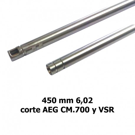 Cañón 433 mm 6,02 stainless steel AEG y VSR