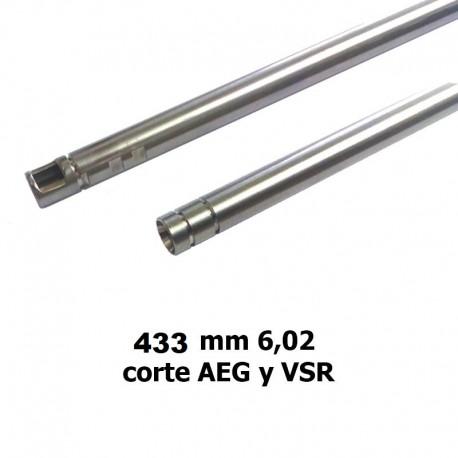 Cañón 433 mm 6,02 stainless steel AEG y VSR